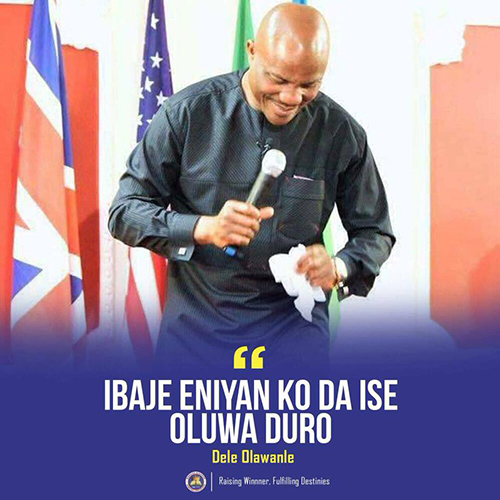 Inspiration Quote By Pastor Dele